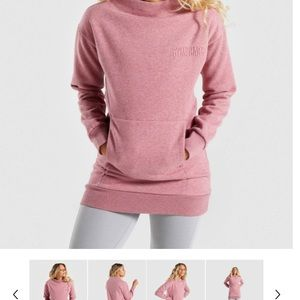 Gymshark So Soft Sweater M Marl Pink